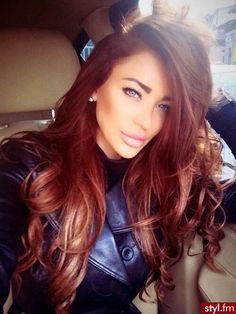 Red hair. I want this color!!!! Ill henna my hair soon, and so i too can be Mary…