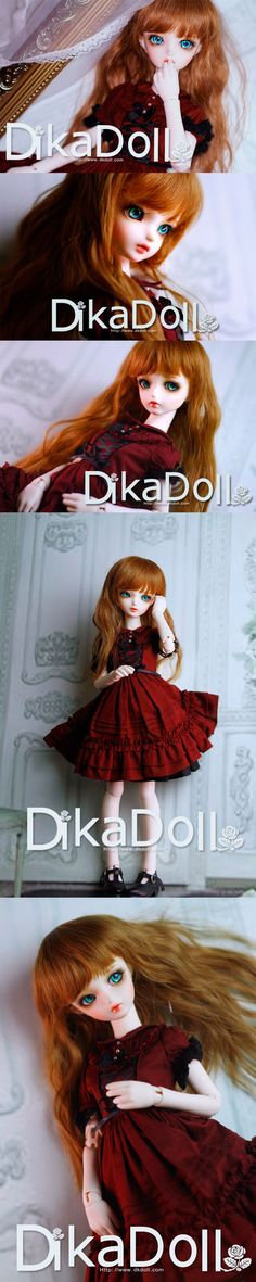 Rose, 42cm Dika Doll - BJD Dolls, Accessories - Alice's Collections