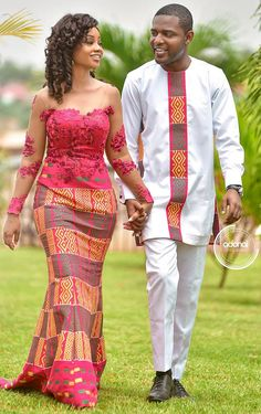 African Wedding Attire, African Attire, African Dress, Couples African Outfits, Couple Outfits, Latest African Fashion Dresses, African Print Fashion, African Traditional Wedding Dress, Couple Wedding Dress