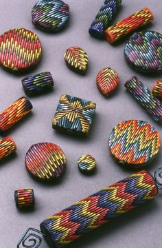 I don't think anyone can top Laura Liska when it comes to bargello.  Laura was making these beautiful before skinner blands, and lots of other tools and techniques that have made claying 'easier'.