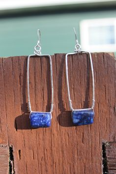 Sterling Silver and Lapiz Earrings, by Cindy Larson Accessories
