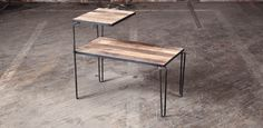 side table from district mfg