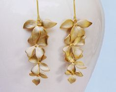 cascading orchid earrings!   $18
