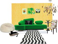 """""""Mode"""" by tina-huffman on Polyvore That's totally my kind of room minus the artwork."""