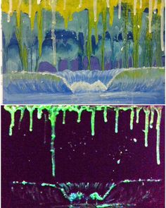 Wave Plancton óleo sobre madeira / pigmento fosforescente