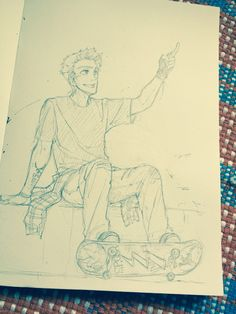 mormoc: I imagine they have their own skateboards. Percy called Jason and Nico to skateboard. What do you think Jason is saying~?