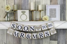 Soon To Be Mr and Mrs Engagement Party Banner by WeddingBannerLove