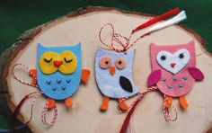 martisoare-too cute Fall Crafts, Diy And Crafts, Felt Animals, Maya, Traveling By Yourself, Activities For Kids, Projects To Try, Embroidery, Christmas Ornaments