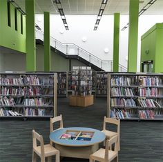 Hattersley Hub, John McCall Architects. Library and circulation