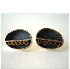 Sterling Oval Modernist Earrings by Polly Stehman, circa 1960