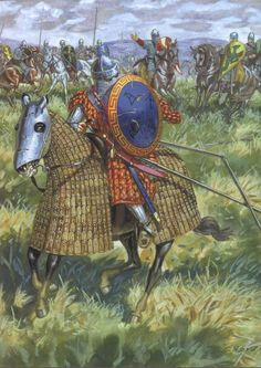 Historical Warrior Illustration Series Part XIX Medieval Knight, Medieval Armor, Medieval Fantasy, Ancient Rome, Ancient History, Byzantine Army, Norman Knight, Armadura Medieval, Dark Ages
