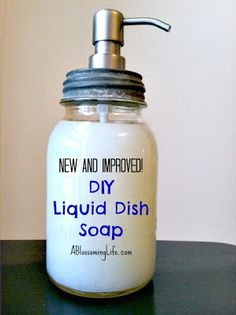 Homemade Liquid Dish Soap  Ingredients: 1/2 cup grated soap (I used Dr. Bronners Citrus Castile soap)* 4 cups water 1/2 Tbs vegetable glycerin (optional: used as a hand moisturizer) 10-20 drops of tea tree oil (anti-bacterial) if you like the smell you can add more if not add the lesser.