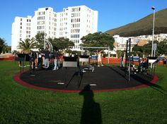 Outdoor gym on beach, Sea Point, Cape Town, South Africa  My new gym while I'm in Cape Town