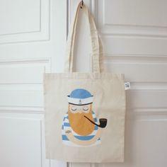 "Tote bag ""Sailor"" - Michelle Carlslund illustration - SUZANNE UNIVERS ENFANTIN"