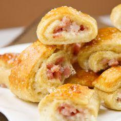 Appetizers: Ham and Cheese Pretzel bites