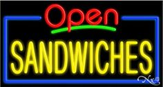 Sandwiches Open Handcrafted Energy Efficient Glasstube Neon Signs