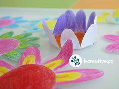 Jarní tvoření s dětmi, pokus pro děti. Květinové kouzlo, rozvíjení květů z papíru.