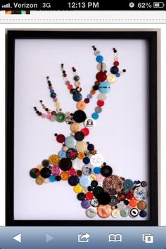 Button animal! Easy and looks great on your wall!