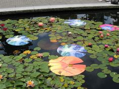 Lily Pond art at Van Dusen Garden in Vancouver