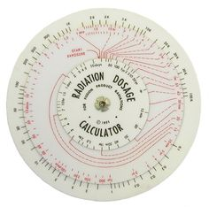 // radiation dosage calculator.  Dad used to have one of these hanging out in his office at the reactor.