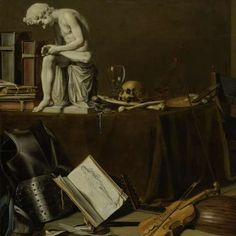 Vanitas stilleben med Nuit Av Tractor, Pieter Claesz, 1628 -. Musik Collected Works of Margaret Richardson - Alla Empire Studios - Empire Studio - Rijksmuseum