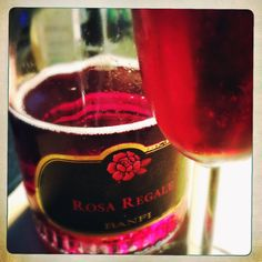 Rosa Regale sparkling wine, oh so good!