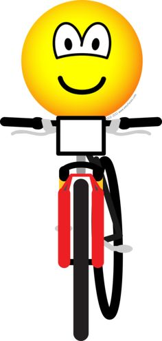 Mountain biking emotion character. And what a happy person he appears to be!