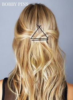 10 Genius Ways to Use Bobby Pins: Geometry Rules | MarieClaire.com
