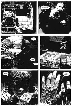 ZAFFINO MAGNUM OPUS: Seven Block, Texts by Dixon, 1990. (Epic/Marvel Comics) Black & White Version