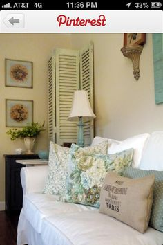 Great idea, use shutters do hide and decorate too.