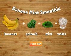Banana mint smoothie