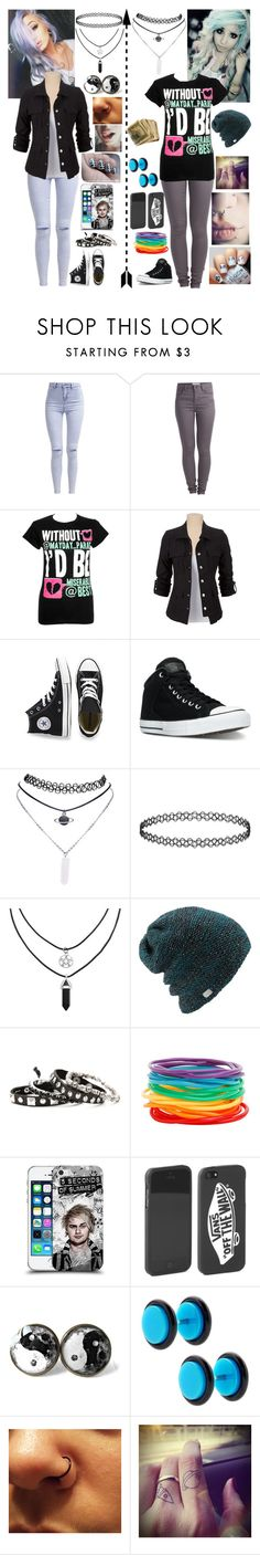 """""""Day with friend"""" by emmcg915 ❤ liked on Polyvore featuring New Look, Pieces, Converse, Wet Seal, Coal, Mikey and Vans"""