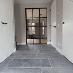 Belgian bluestone flooring in Waddinxveen 2020 - Hallway Ideas Hallway Ideas Entrance Narrow, Modern Hallway, Luxury Flooring, Small Hallways, Furniture Styles, Living Room Kitchen, Kitchen Flooring, Decoration, Sweet Home