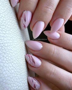 Latest Nail Designs, Valentine's Day Nail Designs, Almond Nails Designs, Acrylic Nail Designs, Pink Chrome Nails, Pink Nails, Glitter Nails, Chic Nails, Stylish Nails