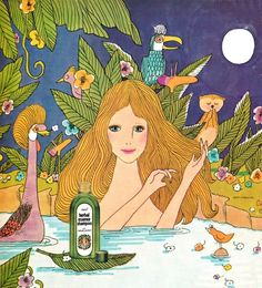 Detail from 1974 Advertisement for Herbal Essence Shampoo Stimulife Health