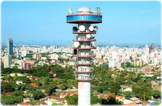 Brazil's tallest radio tower with an observation deck.  Quite a view.