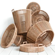 Piet Hein Eek Baskets made from scrap wood by local craftsmen in Vietnam available at The Conran Shop. Priced from: $150.00 to $225.00