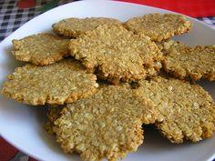 Oat, coconut and honey cookies