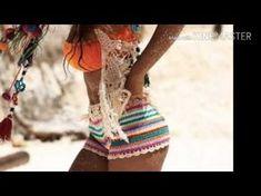 SHORT CROCHÊ COLORIDO FACIL( SHORT CROCHET) - YouTube Crochet Shorts, Crochet Clothes, Crochet Bikini, Short Crochet, Crochet Baby, Yoga Fashion, Diy Fashion, Short Tejidos, Parte Superior Del Bikini