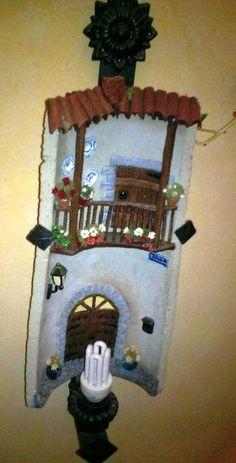 teja decorada, balcón