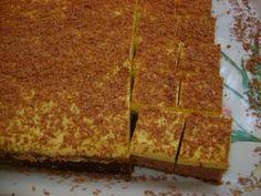 Prăjitură cu cremă de gălbenuşuri şi unt Cake with creamy yolks and butter Hungarian Desserts, Hungarian Recipes, Izu, Cornbread, Nutella, Banana Bread, Spicy, Paleo, Baking