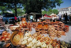 Each Thursday, the town of Barcelos, Portugal, holds an enormous weekly market featuring locally produced ceramics alongside other handcrafts and goods.