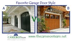 "Upgrading your garage door can really make a difference in curb appeal. If your current door is solid and in good working order, a fresh coat of paint that matches the rest of your home can do wonders.Which of these door styles are your favorite - arched or squared?     See more garage doors on our Pinterest Board ""For the Home"". http://pinterest.com/cameronteam/for-the-home/"