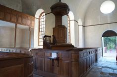 Old Christ Church, Lancaster County Virginia. c.1732. pulpit area
