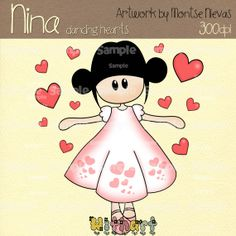 Items similar to Dancing hearts valentines Nina dolls clip art set images for scrapbooking card making iron transfers printable crafts withart on Etsy Holly Hobbie, Printable Crafts, Valentine Heart, Painting For Kids, Digital Collage, Collage Sheet, Cartoon Drawings, Paper Piecing, Doodle Art