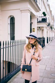 Gal Meets Glam Pink Miu Miu Coat in London