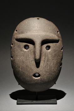 MASK OF A DIGNITARY CRYING Alamito-Condorhuasi - Argentina 400 BC - 950 AD Basalt