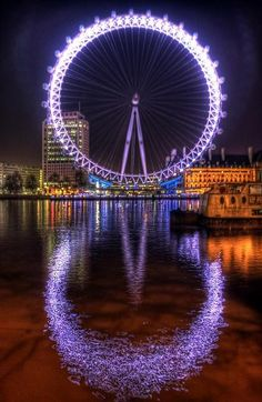 The London Eye ferris wheel. The views of London are amazing! I have been many times and never get tired of the fun. Places Around The World, Oh The Places You'll Go, Places To Travel, Places To Visit, Dream Vacations, Vacation Spots, London Travel, Belle Photo, London England