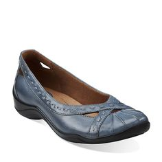 Kessa Nora in Blue Leather - Womens Shoes from Clarks $69.99