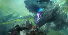 Guild Wars 2 - Dragon by Ruan Jia Design Spartan, Guild Wars 2, Tumblr, Science Fiction Art, Original Wallpaper, Traditional Paintings, Fantasy Illustration, Background Pictures, Illustrations